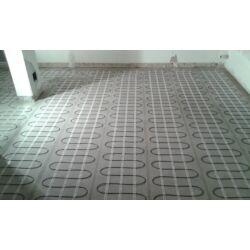 Električno podno grijanje - postavljanje grijaće mreže u sobi