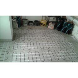 Električno podno grijanje - postavljanje grijaće mreže u kuhinji