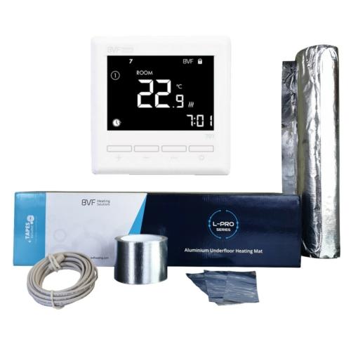 Podno grijanje ispod laminata - Aluminijska grijaća folija od 3 m2 - 300W u kompletu sa termostatom