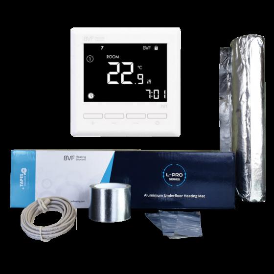 Aluminijska grijaća folija od 10 m2 - 1000W u kompletu sa termostatom