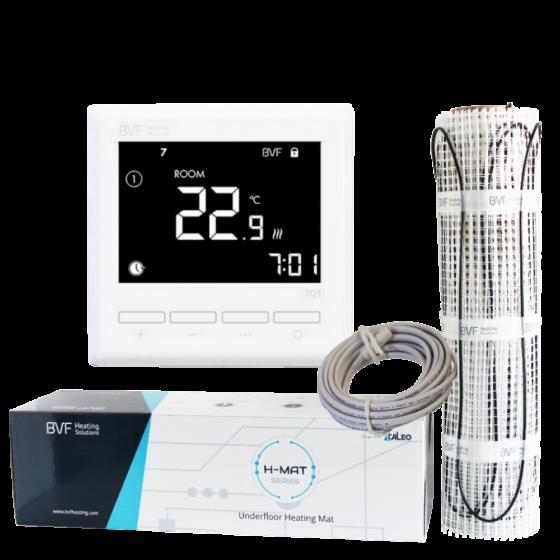 SET - Električna grijaća mreža 8 m2 sa 150W/m2 + digitalmni tjedni termostat BVF 701 sa podnim senzorom